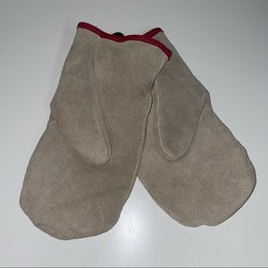 New vintage style leather mittens